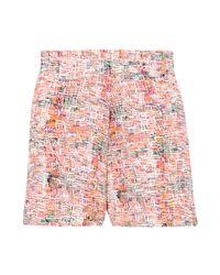 Saloni | Multicolor Mimi Frilled Shibori Shorts | Lyst