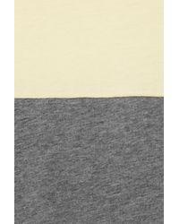 Victoria Beckham - Yellow Two-tone Cotton-jersey Tank - Lyst