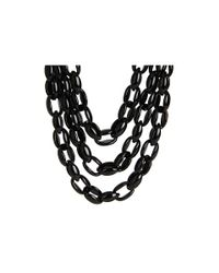 kate spade new york | Black Highline Triple Row Necklace | Lyst