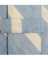 J.Crew - Blue Slim Cotton and Linen-blend Tie for Men - Lyst