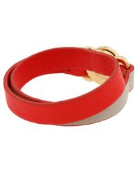 Marc By Marc Jacobs - Red Katie Double Wrap Leather Bracelet - Lyst