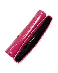 Miu Miu | Pink Polka-dot Canvas Clutch | Lyst