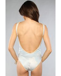 Wildfox | Natural One Piece Swimsuit With Horse Print | Lyst