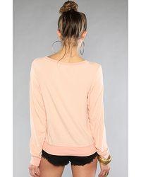 Wildfox - Pink The I Need Coffee Baggy Beach Sweatshirt - Lyst