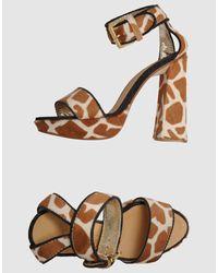DSquared²   Brown Platform Sandals   Lyst