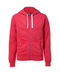 Polo Ralph Lauren - Red Full-zip Fleece Hoodie for Men - Lyst