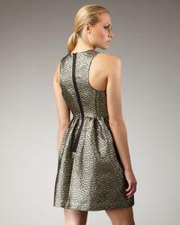 Tibi - Metallic Paisley Jacquard Dress - Lyst