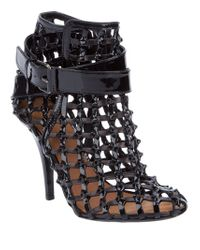 Givenchy | Black Cage Sandals | Lyst