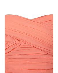 TOPSHOP - Pink Mullet Hem Chiffon Bandeau Dress By Rare** - Lyst