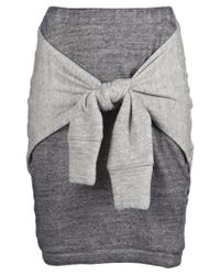 3.1 Phillip Lim | Gray Skirt with Tie | Lyst