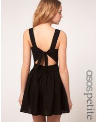 ASOS Collection | Red Asos Petite Exclusive Mini Dress with Tie Back | Lyst