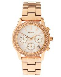 DKNY | Gold Dkny Steel Watch | Lyst