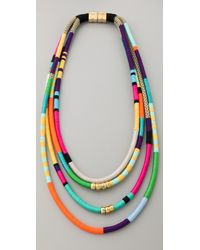 Holst + Lee | Multicolor Four Strand Necklace | Lyst