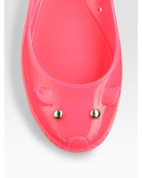 Marc By Marc Jacobs | Pink Jelly Mouse Ballet Flats | Lyst
