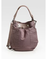 Marc By Marc Jacobs | Brown Preppy Nylon & Leather Hobo Bag | Lyst