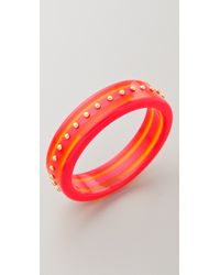 Marc By Marc Jacobs - Red Jacobson Stud Bangle - Lyst