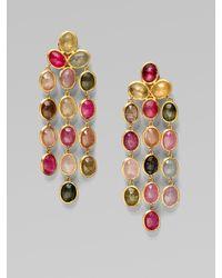 Marco Bicego | Metallic 18k Gold Multi-color Sapphire Chandelier Earrings | Lyst