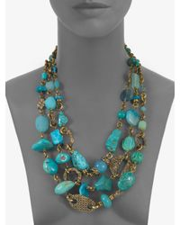 Stephen Dweck | Blue Turquoise and Chalcedony Multi-strand Necklace | Lyst