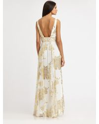 Sue Wong - Natural Jacquard Gown - Lyst