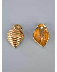 Valentino - Metallic Vintage Earrings - Lyst