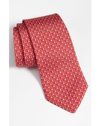 Ferragamo | Red Ladybug And Flower Printed Tie for Men | Lyst