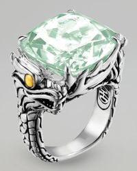 John Hardy - Naga Batu Ring, Green Amethyst - Lyst