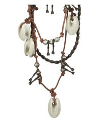 AllSaints - White Akan Ceramic Necklace - Lyst