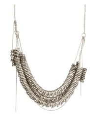 AllSaints   Metallic Sabian Matinee Necklace   Lyst