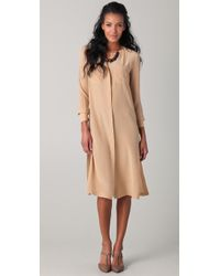 Yigal Azrouël | Natural Silk Shirtdress | Lyst