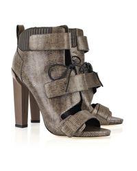 Alexander Wang | Brown Noemi Peep-toe Leather Boots | Lyst