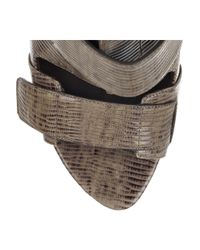 Alexander Wang - Brown Noemi Peep-toe Leather Boots - Lyst