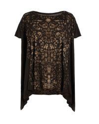 AllSaints | Black Camouflage T-shirt | Lyst