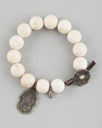 Love Heals - White Magnetite Bracelet - Lyst