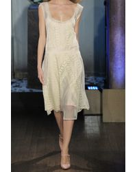 Philosophy di Alberta Ferretti | Beige Lace and Cotton-tulle Dress | Lyst