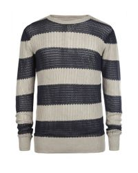 AllSaints - Gray Anglo Crew Jumper for Men - Lyst