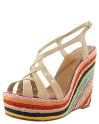 kate spade new york - Multicolor Lindsay Striped Espadrille - Lyst