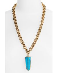 Kelly Wearstler | Blue Turqoise Pendant Chain Necklace | Lyst
