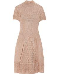 Philosophy di Alberta Ferretti | Pink Metallic Crochet-knit Dress | Lyst