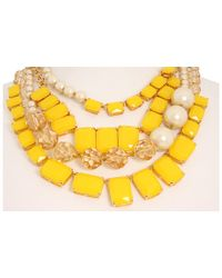 kate spade new york - Yellow Treasure Chest Statement Necklace - Lyst