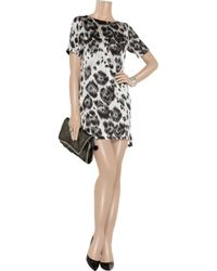 Stella McCartney   Black Cat Print Crepe Dress   Lyst