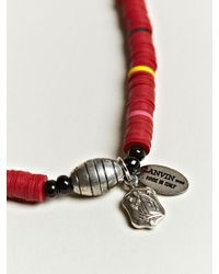 Lanvin - Red Tribal Necklace for Men - Lyst