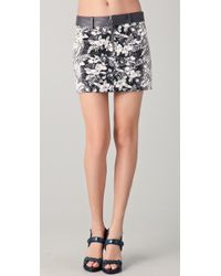 Alexander Wang | Gray Botanical Ombre Miniskirt | Lyst