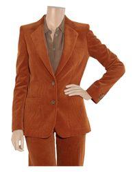 Chloé - Orange Corduroy Jacket - Lyst