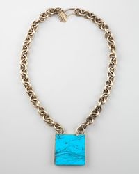 Kelly Wearstler | Blue Square Turquoise Pendant Necklace | Lyst