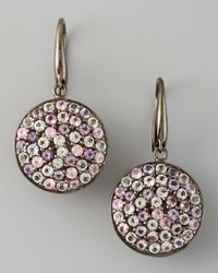M.c.l  Matthew Campbell Laurenza | Pink Pave Sapphire Drop Earrings | Lyst