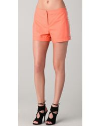 Robert Rodriguez - Orange Silk Chiffon Piped Shorts - Lyst