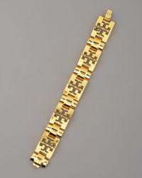 Tory Burch | Metallic Logo-pyramid Bracelet | Lyst
