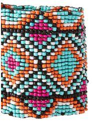 ASOS - Multicolor Aztec Seedbead Stretch Bracelet - Lyst