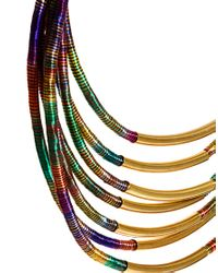 ASOS | Multicolor Multi Row Thread Wrapped And Tube Necklace | Lyst