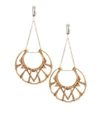 Bing Bang - Metallic Bing Bang Silver and Brass Chandelier Earrings - Lyst